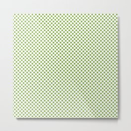 Greenery Polka Dots Metal Print