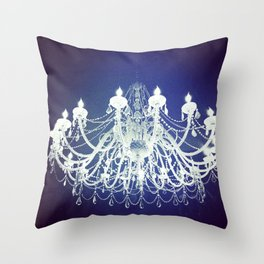 Chandelier | Black and White Photography | Romantic, Sparkly, Dreamy Light Throw Pillow