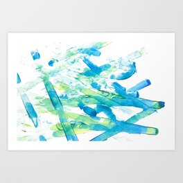 Blue Green and Yellow Art Print