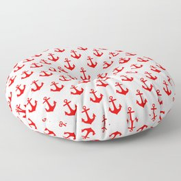 Anchors (Red & White Pattern) Floor Pillow