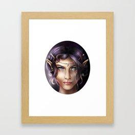 Elven Face Framed Art Print