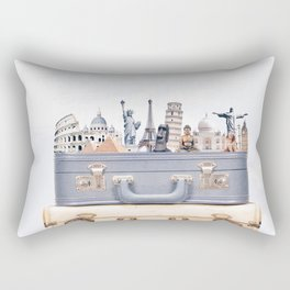 Travel Luggage Rectangular Pillow