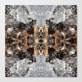 Diamond Ice Frozen Autumn - Debra Cortese photo art Canvas Print