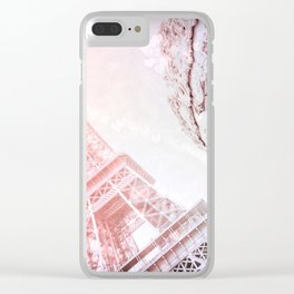 Shimmering Pink Paris Memories Clear iPhone Case