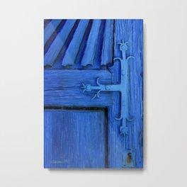 Blue Church Door, Patzcuaro, Mexico Metal Print