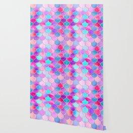 Candy Festival Mermaid Scale Pattern Wallpaper