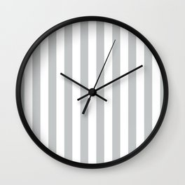 Vertical Light Grey Stripes Pattern Wall Clock