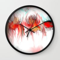 twins Wall Clocks featuring Twins by Jessielee