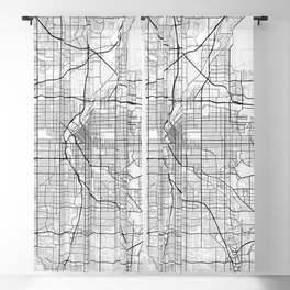 Denver City Map of the United States - Light Minimalist Blackout Curtain