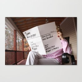 Newspaper Canvas Print