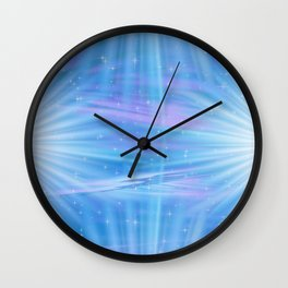 Flower Rays of Light Wall Clock