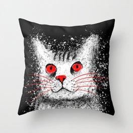 Red Eyed Cat - Australian Mist Throw Pillow