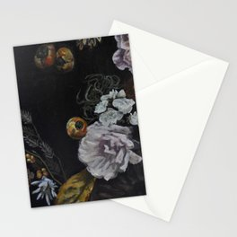 Autumnal in Black Stationery Cards