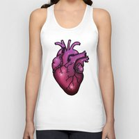 anatomical heart Tank Tops featuring Anatomical Heart by Hungry Designs
