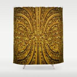 Time Jewel by Joanna Aqua Shower Curtain
