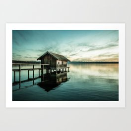 The house at the lake Art Print