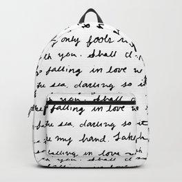 Can't Help Falling in Love Script Backpack