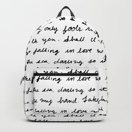 Can't Help Falling in Love Script Backpack