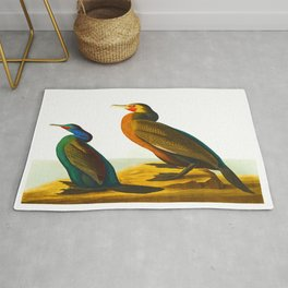 Violet-green Cormorant and Townsend's Cormorant Bird Rug