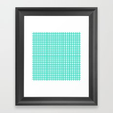 LINES in MINT Framed Art Print