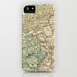 Encyclopedia Retro Map of Northern Ireland iPhone Case