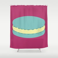 macaron Shower Curtains featuring Macaron by Diapeirein