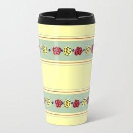 A Rosey Outlook Yellow Travel Mug