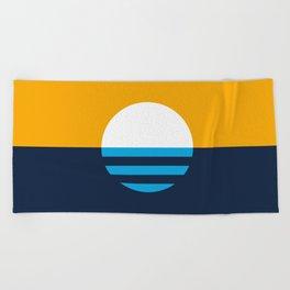 The People's Flag of Milwaukee Beach Towel