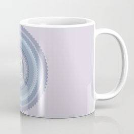 Inspirational Mandala in soft pastel colors of blue and lilac Coffee Mug