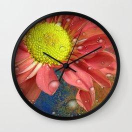 The Orange Daisey Wall Clock