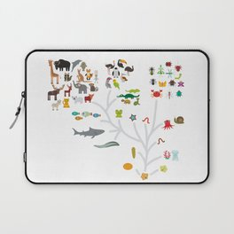 Evolution scale from unicellular organism to mammals. Evolution in biology, scheme evolution of anim Laptop Sleeve