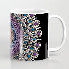 Purple, Blue and Orange Flowering Mandala Coffee Mug