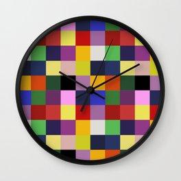 Patchwork Bookworm Wall Clock