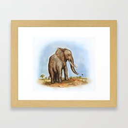 The Majestic African Elephant Framed Art Print