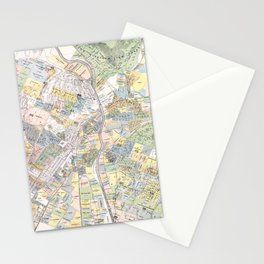 Vintage Map of Los Angeles CA (1884) Stationery Cards