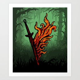 Bonfire Lit (Day Variant) Art Print