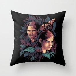 Lose Myself Ellie and Joel Last of Us Throw Pillow