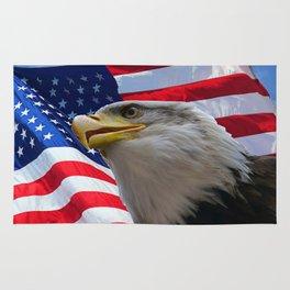 American Flag and Bald Eagle Rug
