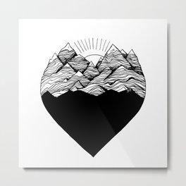 Heart is buried Metal Print