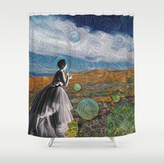 Glenda Deep Dreams Shower Curtain