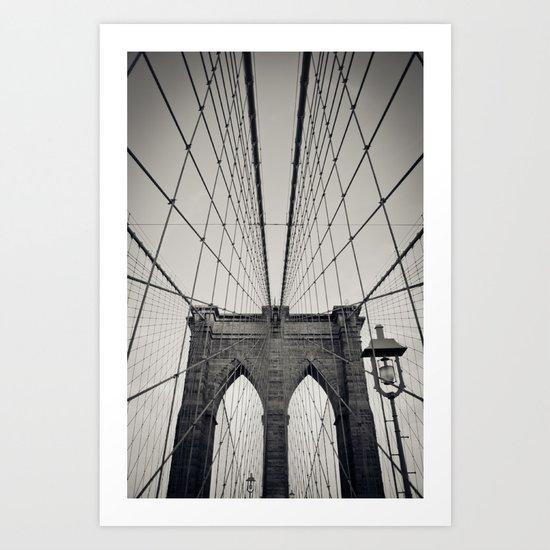Brooklyn Bridge B/W | New York City Art Print
