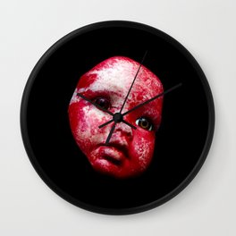 Blood Doll Face I Wall Clock