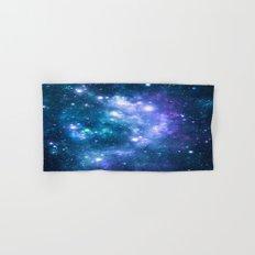 Violet Teal Galaxy Nebula Hand & Bath Towel