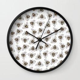 Bee Pattern - Katrina Niswander Wall Clock
