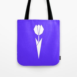 Origami Flower (white + blue) Tote Bag