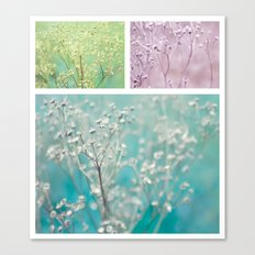 Wildflowers ~ triptych Canvas Print