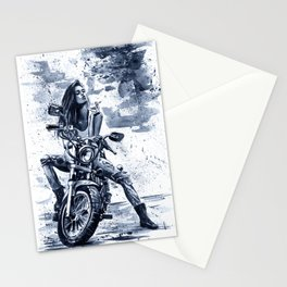 Biker Girl Stationery Cards