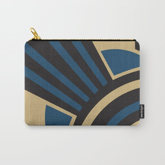 Art Deco Beautiful Life In Blue Carry-All Pouch