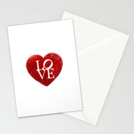 love: embroidery on paper print Stationery Cards
