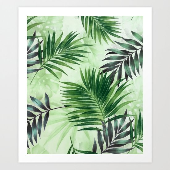 Palm leaves IV Art Print